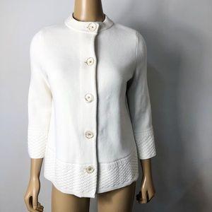 J. Mclaughlin button front knit cardigan jacket